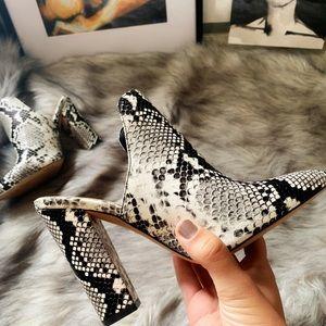 Aldo snake print mule heel